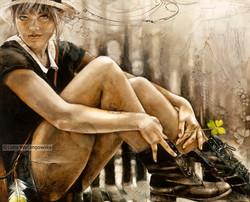 """# 096 """"Four Leaf Clover""""44""""x36"""" (111.76 cm x 91.44 cm) oil on wood"""