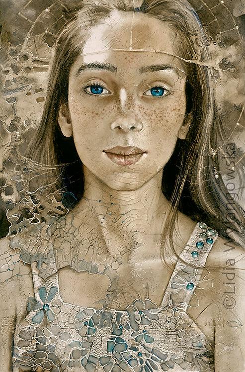 "#263 ""Endless Blue""  giclée print on canvas"