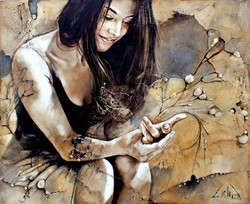 """#002 """" Butterfly Effect""""36""""x44"""" (111.76 cm x 91.44 cm)oil on wood /"""