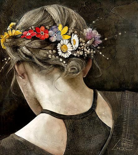 """#257 """"Braid"""" giclée print on canvas"""
