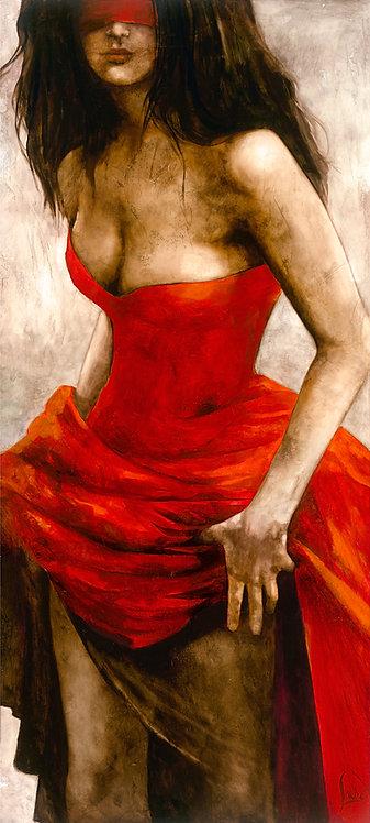 "#036 ""Wild at Heart"" ;giclée print on canvas"