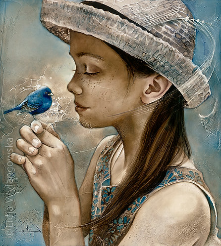 """#262 """"Out of Blue""""   giclée print on canvas"""