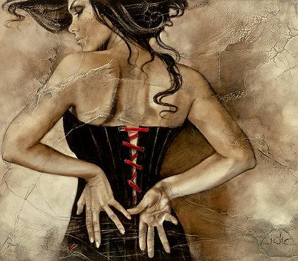 "#100 ""Quinn of Spades""  giclée print on canvas"