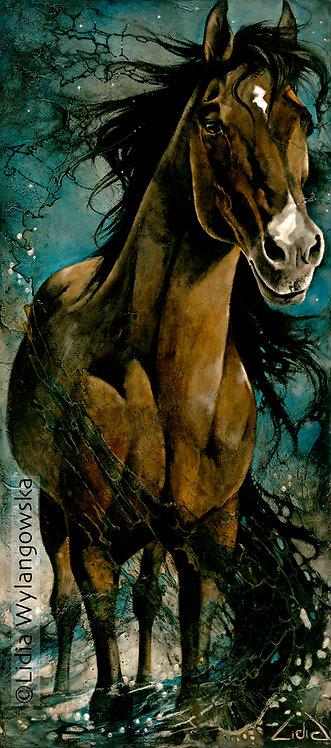 """#228(3) """"Dark Horse""""    giclée print on canvas"""
