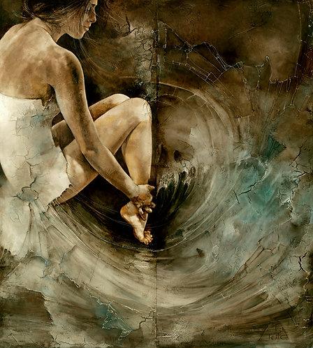 """#061 """"River""""  original oil painting"""