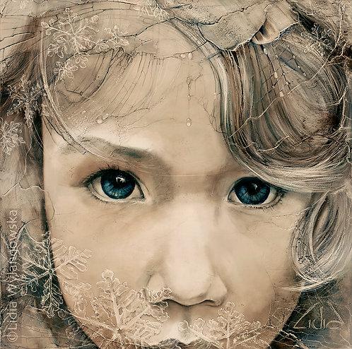 "#144 ""Snowflake"" giclée print on canvas"