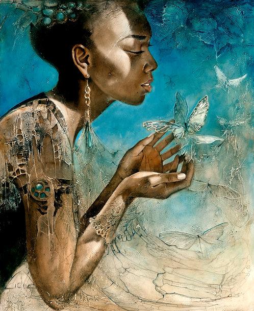 "#209 "" Handful of Heaven"" giclée print on canvas"