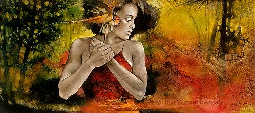"""#268 """"Bird of Paradise""""   giclée print on canvas"""