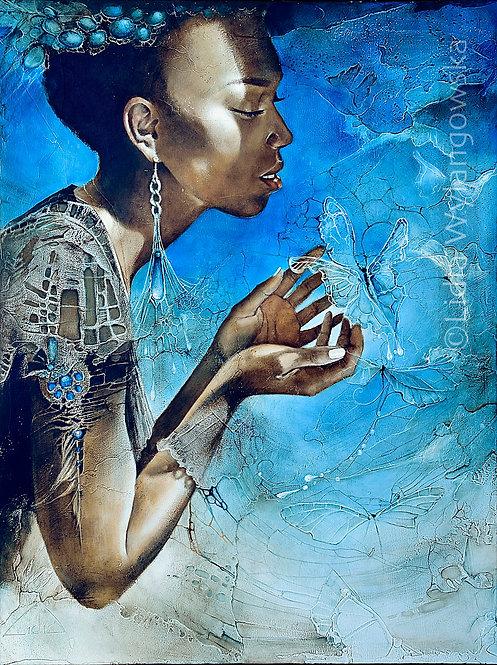 """#284 """"Sprinkle of Heaven """"   original oil painting"""