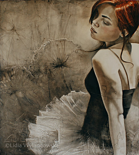 """#205 """"Written in the Wind""""     giclée print on canvas"""