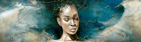 "#208 ""Blue Angel""  giclée print on canvas"