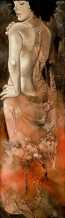 "#232 ""Blossom"" giclée print on canvas"