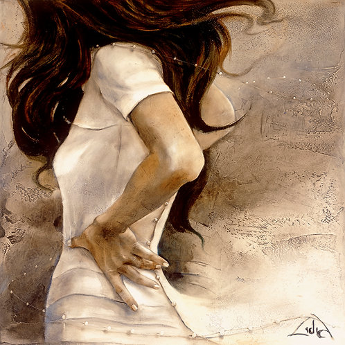 "#020 ""White Tango"" giclée print on canvas"