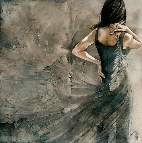 """#037 """"Fragile Strength""""  giclée print on canvas"""