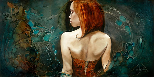 """#199 """"Dare to Be""""   giclée print on canvas"""