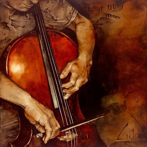 """#031 """"Adagio""""  giclée print on canvas"""