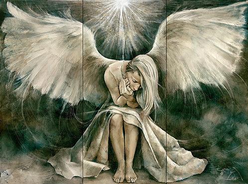 "#034 ""Angel"" giclée print on canvas"