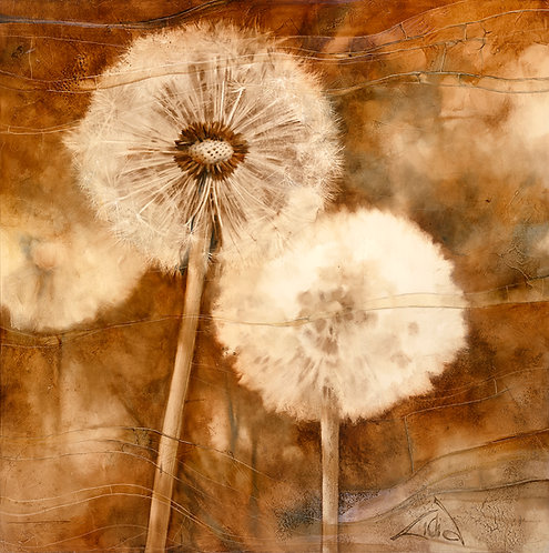 """#041 """"Walking In The Wind"""" giclée print on canvas"""