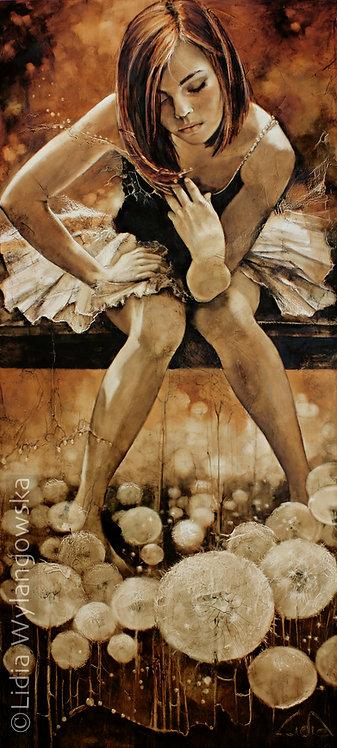 """#168 """"Dandelions""""    giclée print on canvas"""