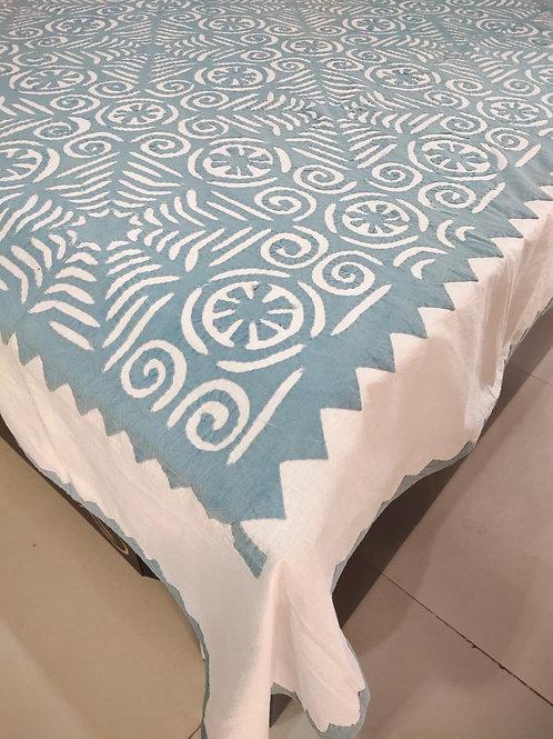 Grey Applique Bedcover