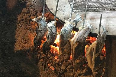 魚塩焼き,あまご・いわなの塩焼き,囲炉裏,いろり,グルメ,名物