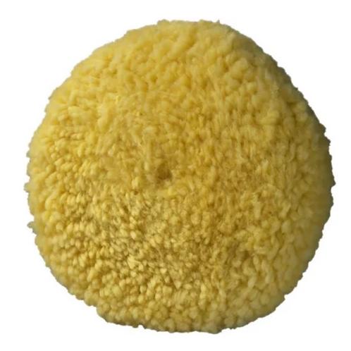 Borla de lana amarilla velcro 7.5