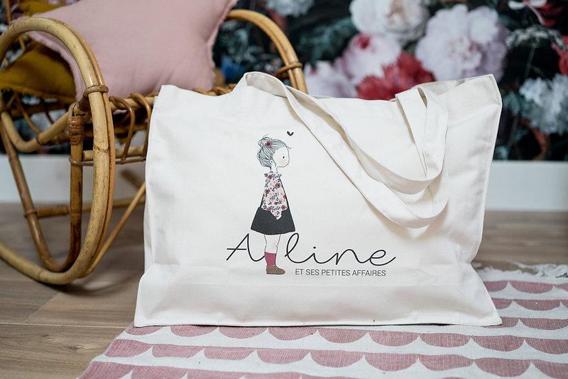 Big Bag PRENOM AU TRAIT Enfant ou Bébé (personnalisable)
