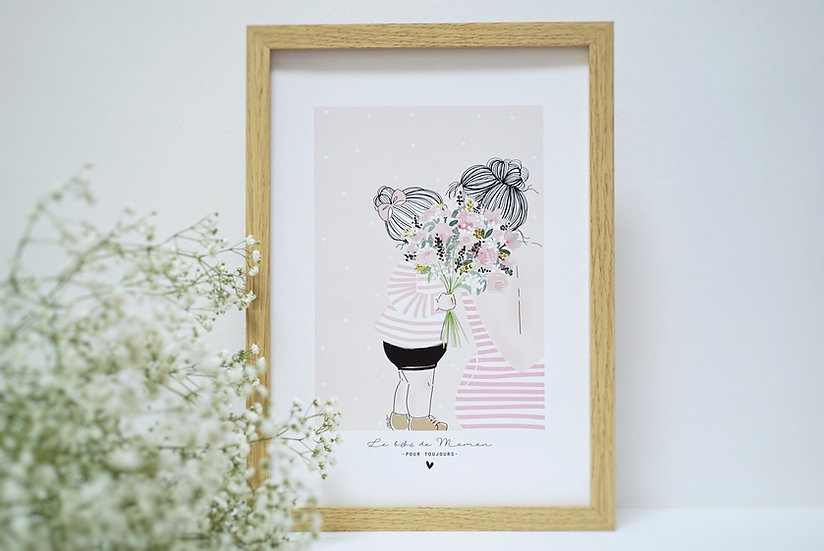 Affiche A4 Le bébé de Maman