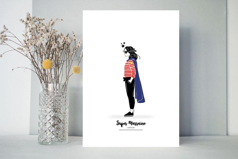 Affiche Profil  HEROS -femme-