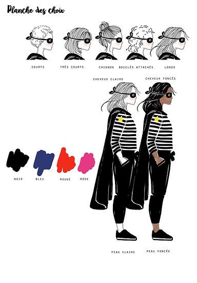 OPTION Affiche Profil  HEROS -femme-