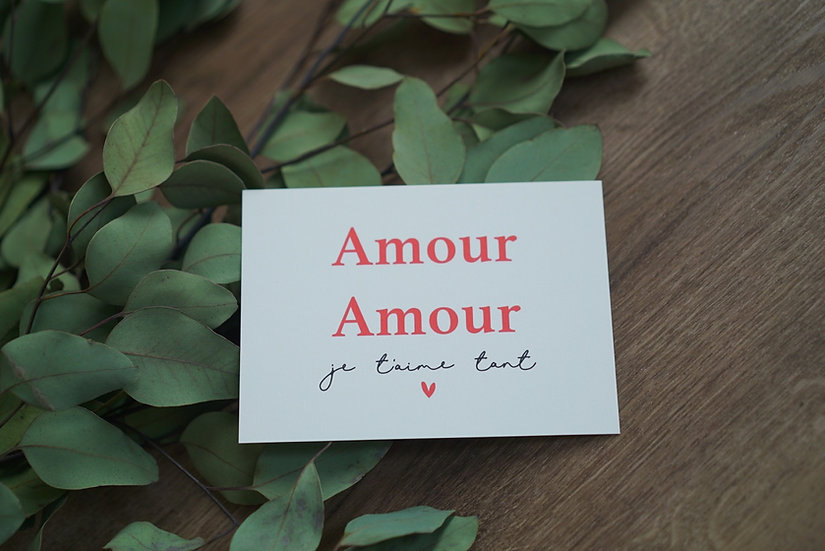 Carte AMOUR AMOUR