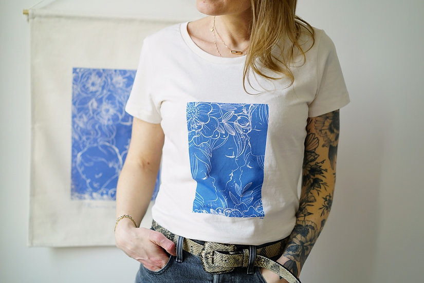T-shirt  CYANOTYPE BLEU