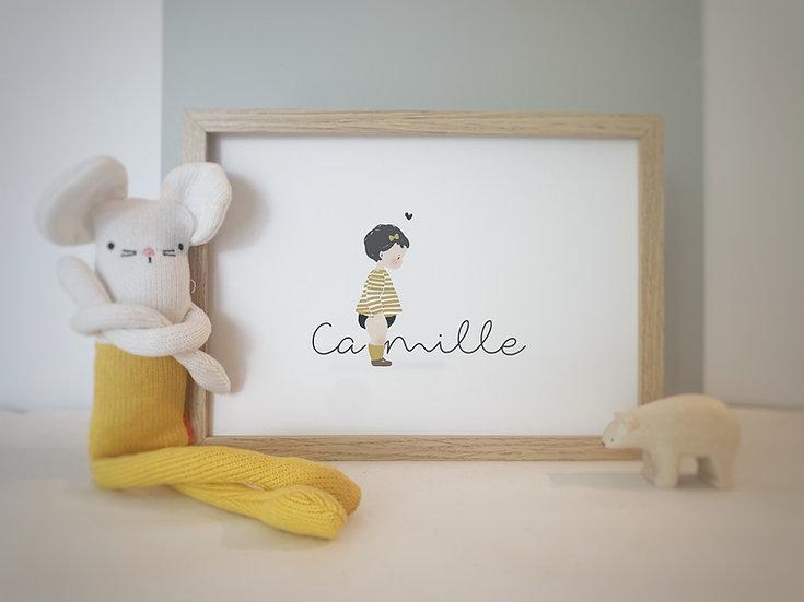 Affiche PRENOM Enfant ou Bébé (personnalisable)
