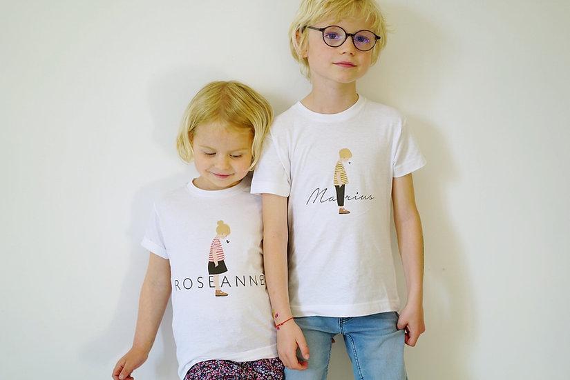T-shirt enfant PRENOM manches courtes