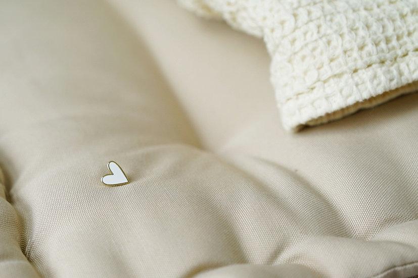 Pin's COEUR blanc