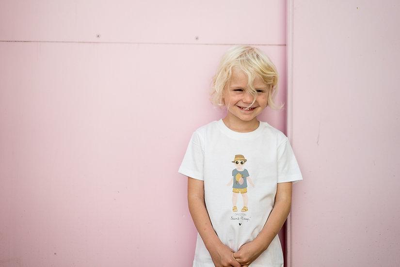 T-shirt BONJOUR L 'ETE blanc