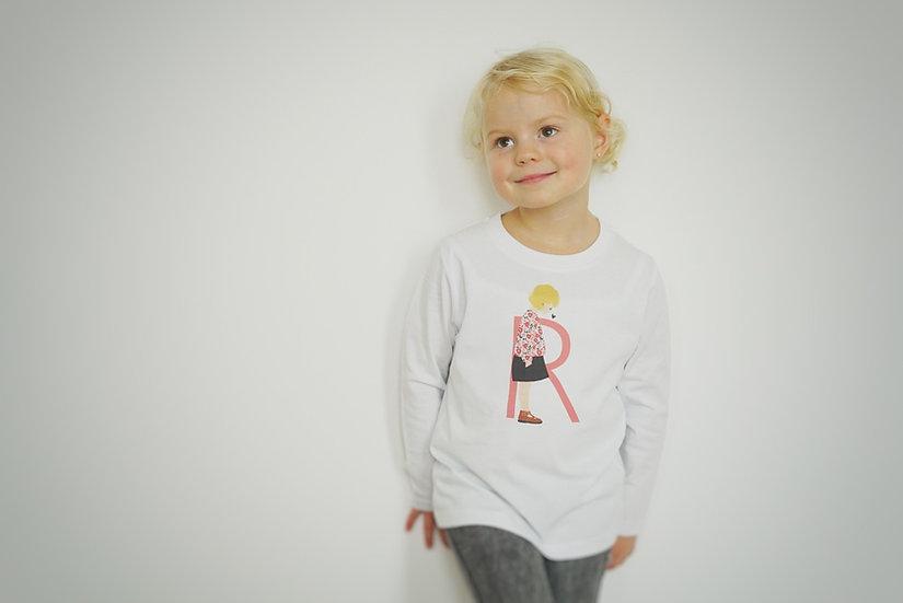 T-Shirt ML INITIALE couleur Enfant