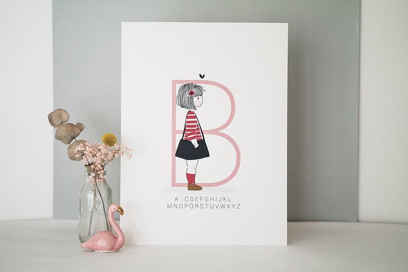 Affiche A4 INITIALE Enfant (personnalisable)