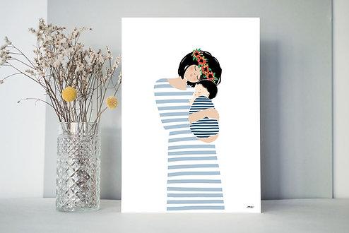 Affiche Maman CALIN (avec un enfant compris)