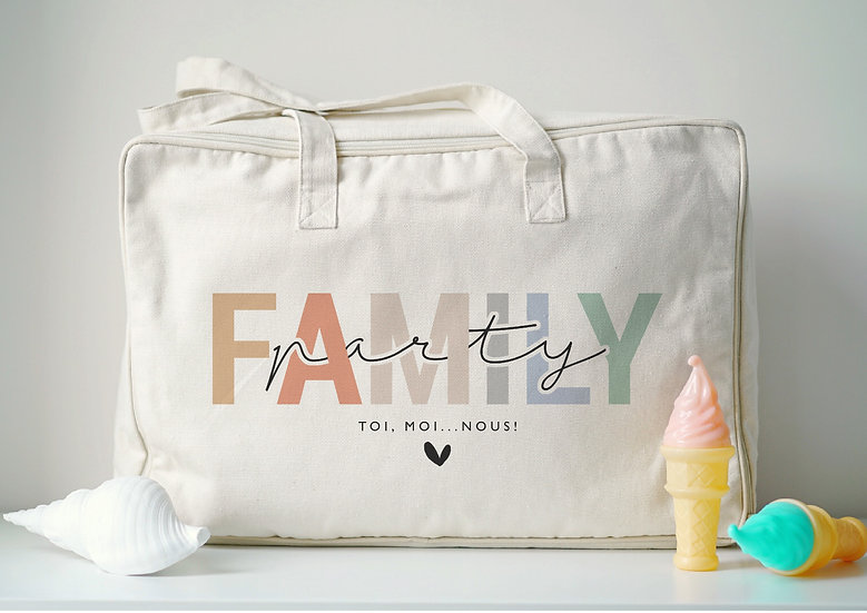 Valise FAMILY PARTY naturel