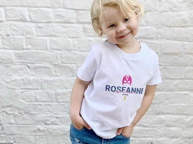 T-shirt enfant MASQUE MIXTE blanc