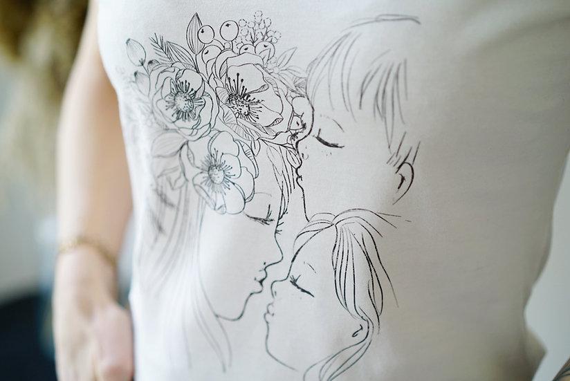 T-shirt TATOU naturel et noir