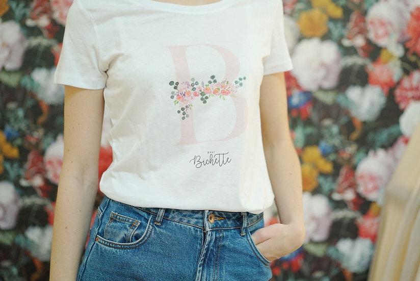 T-shirt LETTRE AQUARELLE Femme  Blanc