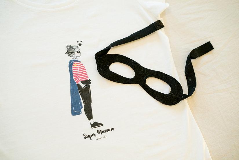 T-shirt Profil HEROS Femme MC Blanc (personnalisable)