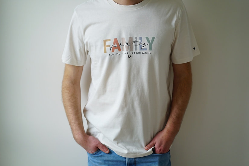 T-shirt Homme FAMILY PARTY naturel