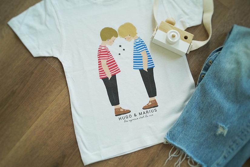 T-Shirt COPAIN COPINE Manches courtes