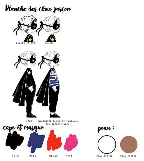 Option Affiche Profil HEROS - Garçon -