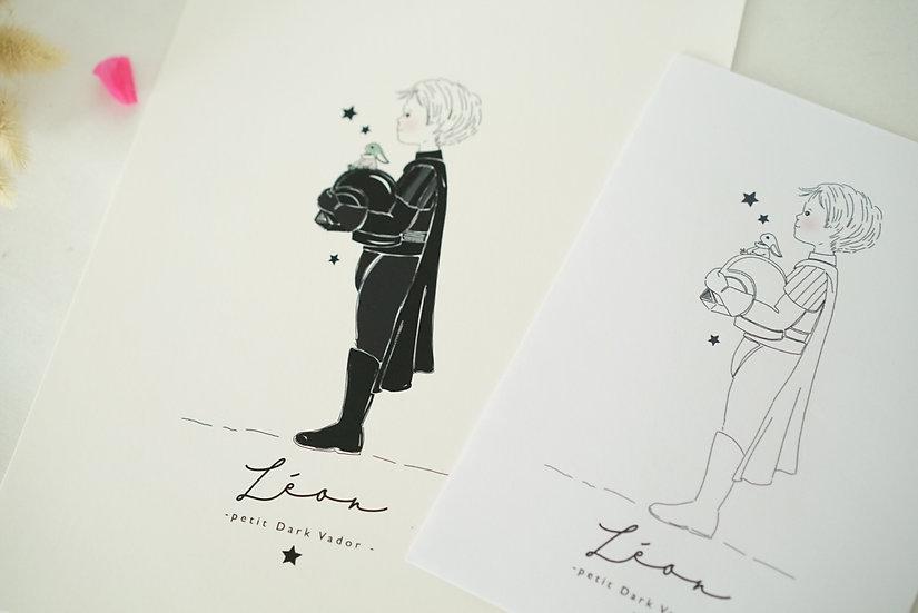 Pack Affiche A4 et coloriage assorti Costume garçon