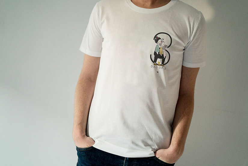 T-shirt DAD OF Homme MC Blanc (personnalisable)