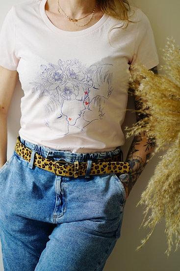 T-shirt TATOU rose poudre et bleu